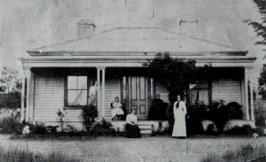 The first manse photographed around 1890 by Roger Sewhoy