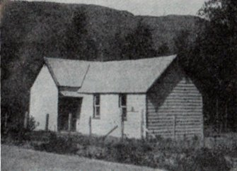 The old Frankton Church photographed around 1930 by Alexander Don