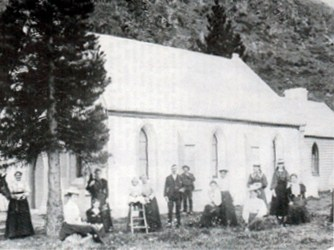 St John's Presbyterian Church photographed around 1900 by R.J. Jenkins